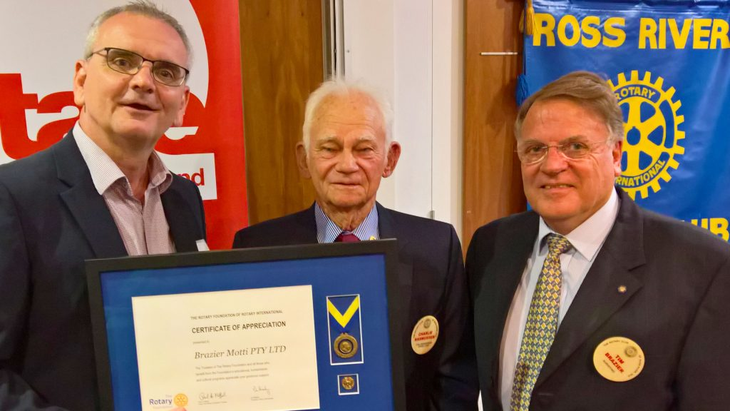 Brazier Motti Honoured by Rotary Club of Ross River
